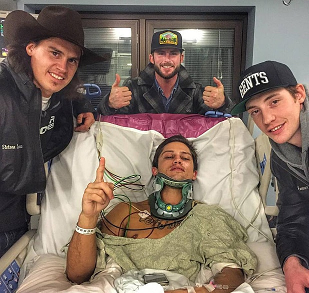 Bonner Bolton in Hospital