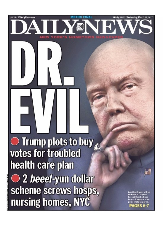 trump as dr evil and 9 other covers that have ridiculed the