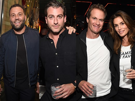 David Grutman, Mark Birnbaum, Rande Gerber, Cindy Crawford - Getty Images