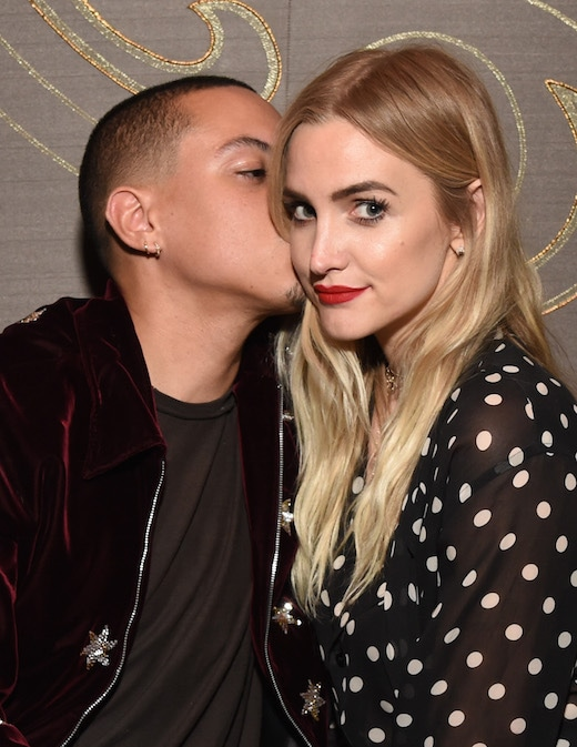 LOS ANGELES, CA - MARCH 16: Actor Evan Ross (L) and singer Ashlee Simpson attend day one of TAO, Beauty + Essex, Avenue + Luchini LA Grand Opening on March 16, 2017 in Los Angeles, California. (Photo by Michael Kovac/Getty Images for TAO)