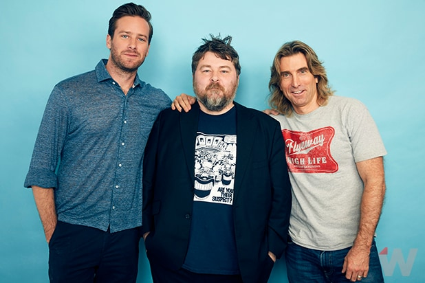 Armie Hammer, Ben Wheatley and Sharlto Copley, 'Free Fire'