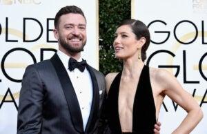 JUSTINE TIMBERLAKE JESSICA BIEL 74th Annual Golden Globe Awards - Arrivals