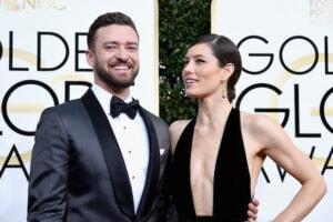 JUSTINE TIMBERLAKE JESSICA BIEL 74th Annual Golden Globe Awards - Arrivals