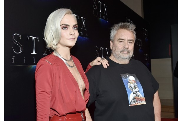 Cara Delevigne and Luc Besson cinemacon