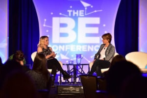 Kristen Bell Sharon Waxman Be conference