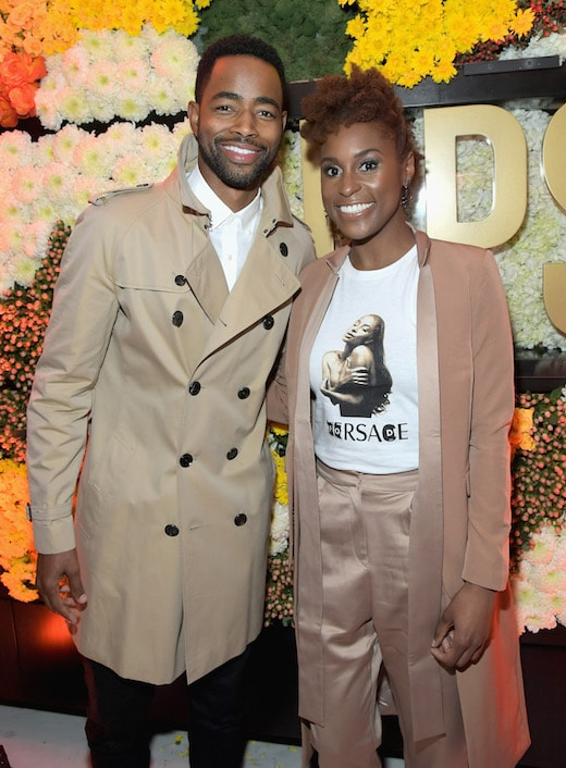 Jay Ellis (L) and Issa Rae a