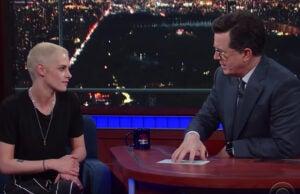 Kristen Stewart Late Show