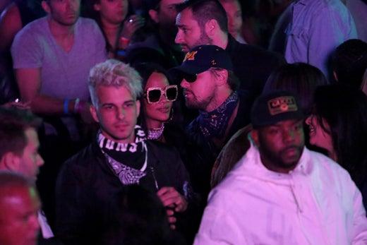 Rihanna Leonardo Dicaprio Neon Carnival 2017