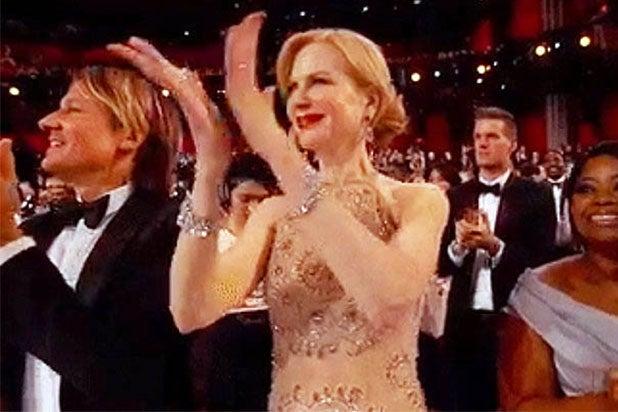 Nicole Kidman clapping