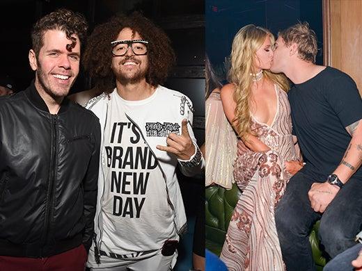 Perez Hilton, Red Foo, Paris Hilton Kissing Chris Zylka
