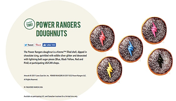 Power Rangers Donuts