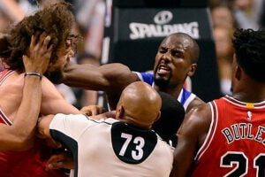 Robin Lopez and Serge Ibaka Fight