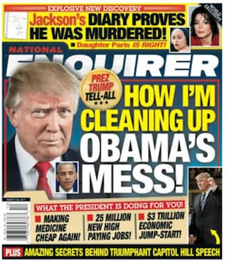Donald Trump National Enquirer Cover