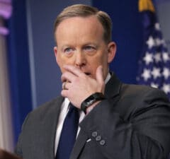 Sean Spicer holocaust denial history trump