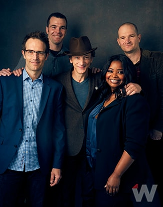 Michael Vartan, Ian Nelms, John Hawkes, Octavia Spencer and Eshom Nelms, 'Small Town Crimes'
