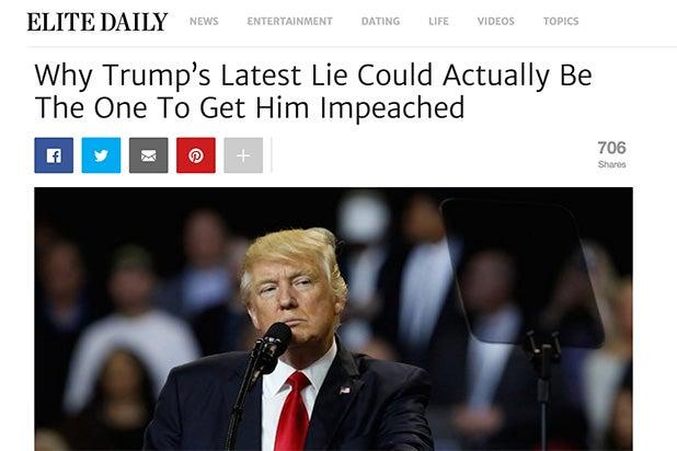 Trump Lie Elite Daily
