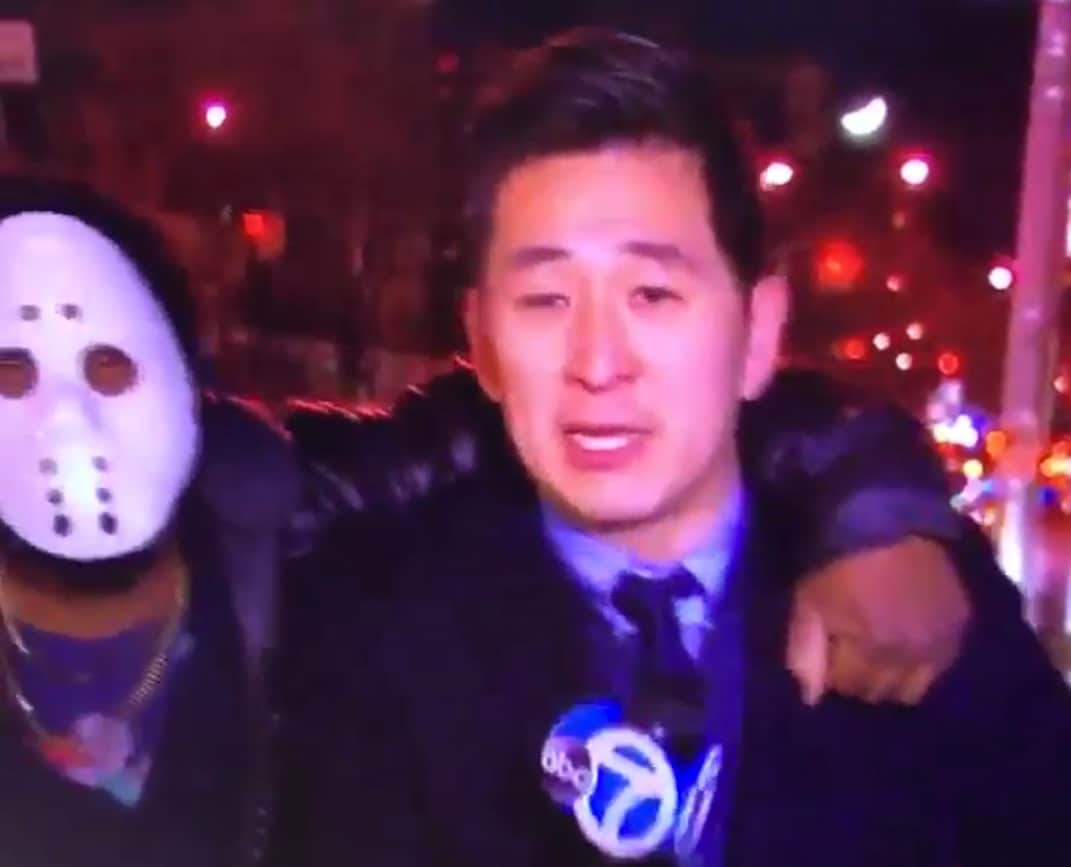 TV Reporter Attacked Live On-Air by Man in Hockey Mask (Video)