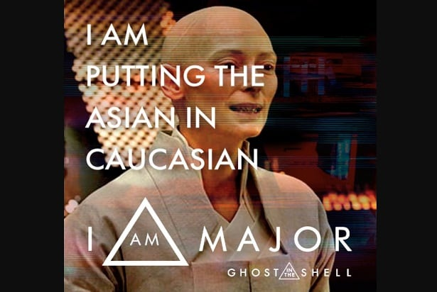 ghost in the shell meme asian in caucasian