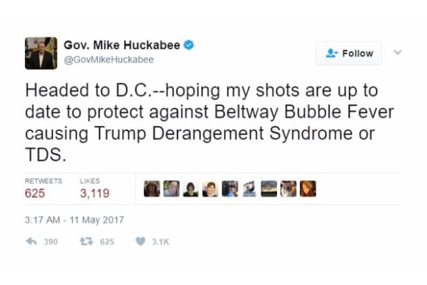 huckabee joke beltway bubble fever