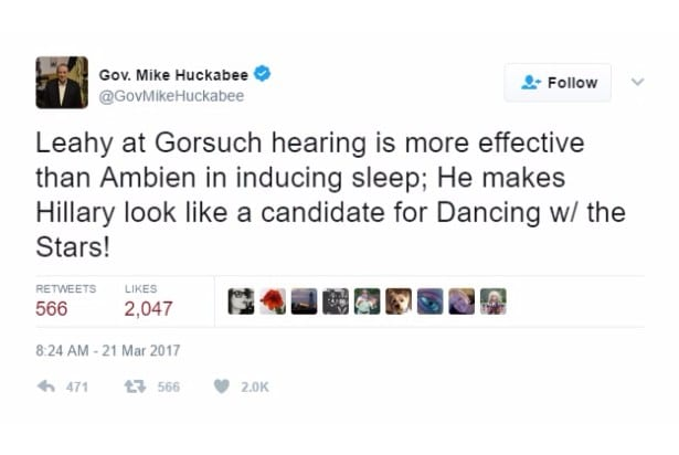 huckabee jokes ambien dancing with the stars twitter