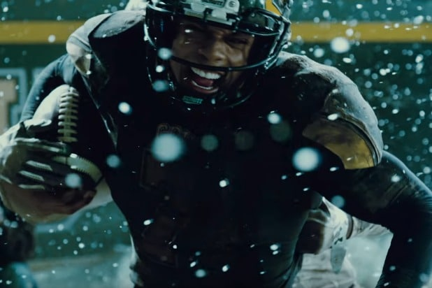 justice league trailer cyborg playing football