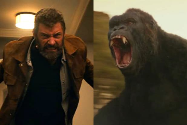 Paws Vs Claws Kong Skull Island Aims To Conquer Logan At Box Office
