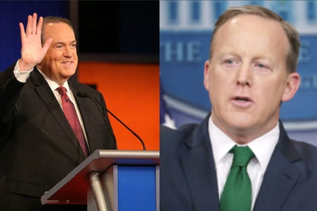 spicer huckabee twitter joke steal theft russian dressing