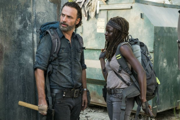 Walking Dead Rick And Michonne Hunt For Guns In Emotional Episode
