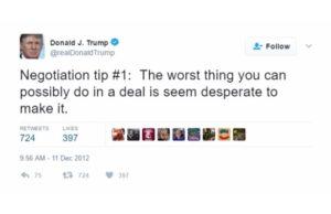 trump self own twitter desperate