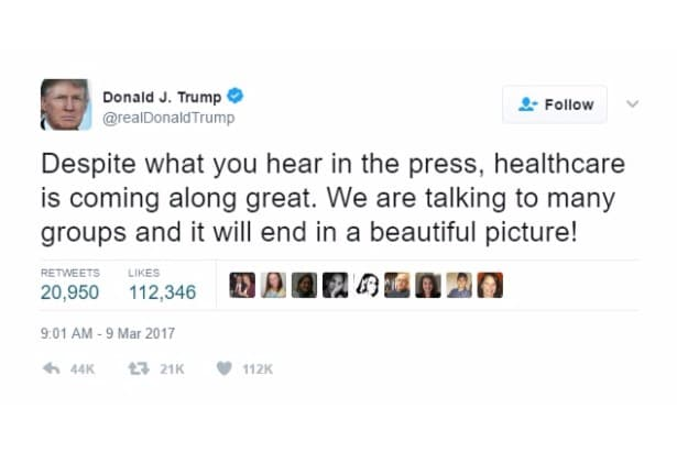 trump self own twitter despite press