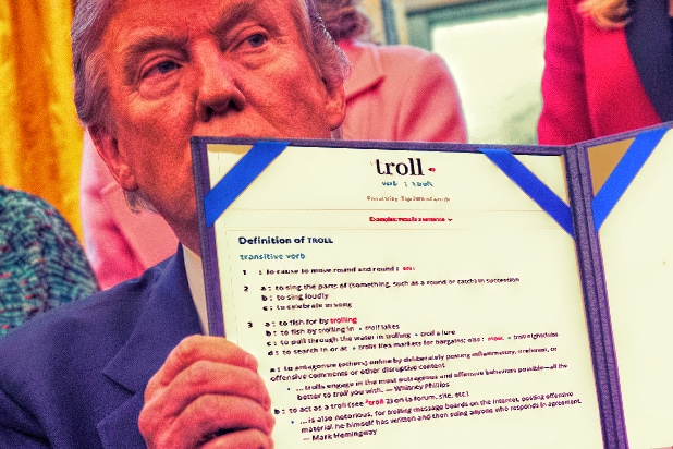 Donald Trump Merriam Webster Troll
