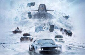 Fate of the furious submarine outrun car