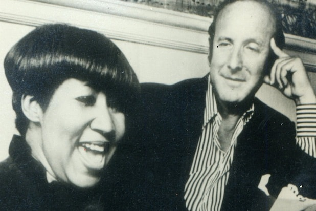 Clive Davis and Aretha Franklin