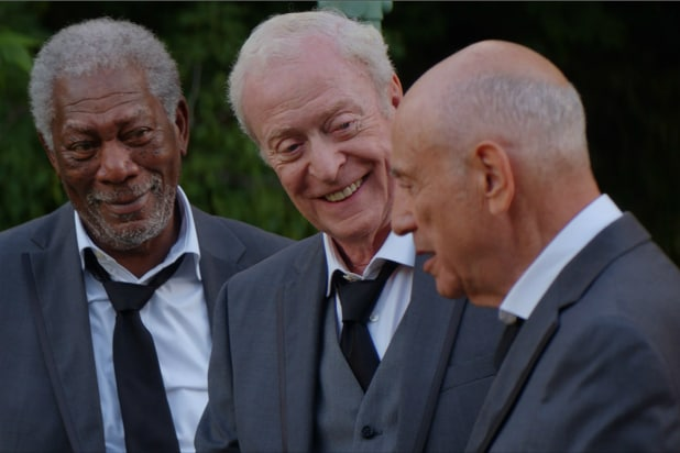 going in style review michael caine and company rob a bank but