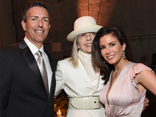 Wayne Pacelle, Diane Keaton, and HSUS' Tara Loller. (Michael Kovac/Getty Images)
