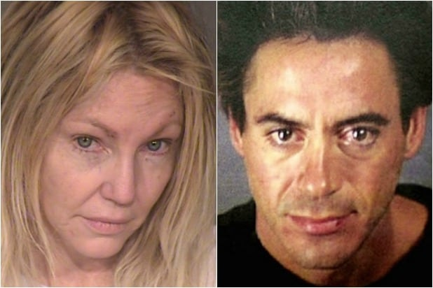 Heather Locklear Robert Downey Jr Mugshots