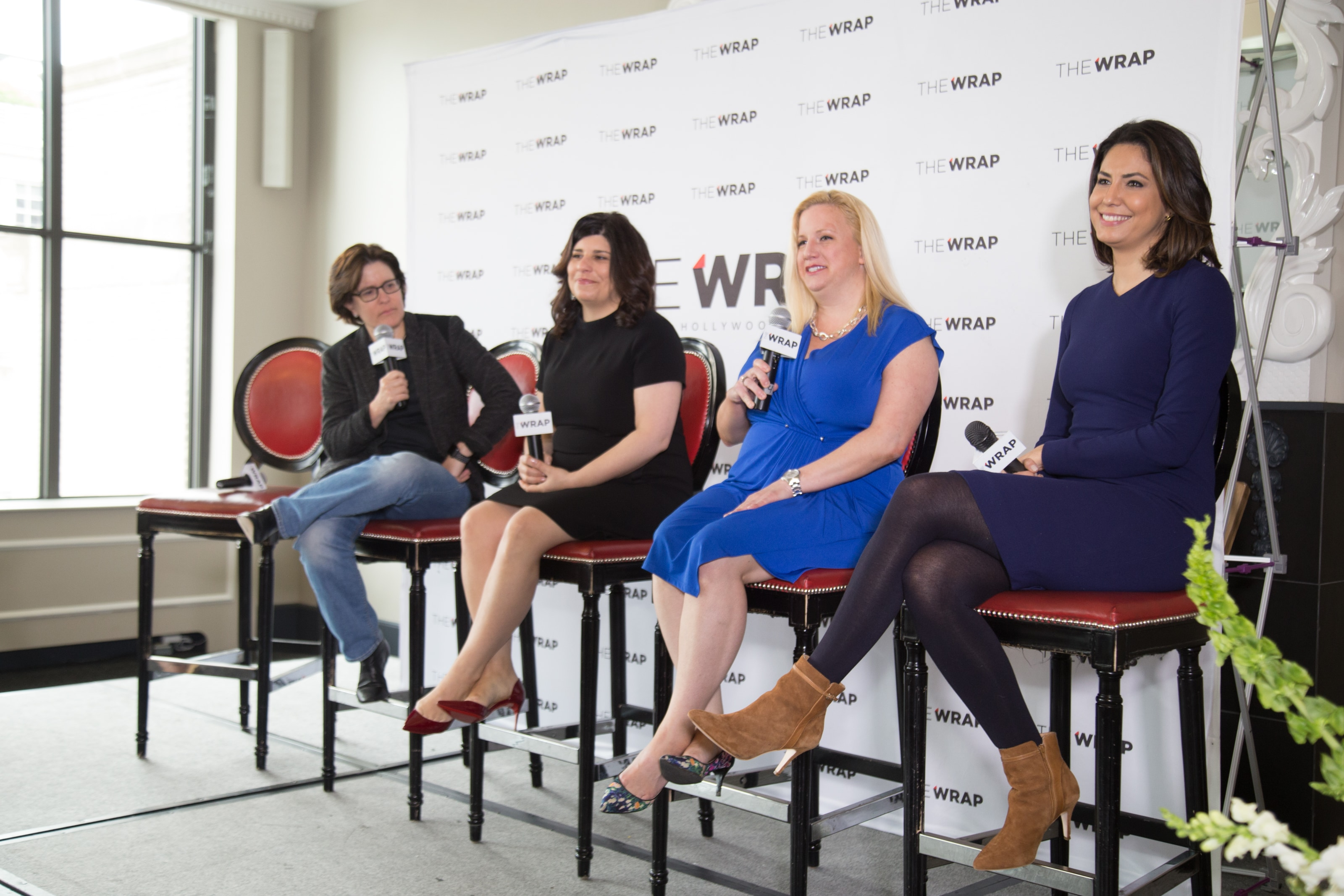 Kara Swisher, Carrie Budoff Brown, Cecilia Vega and Christina Wilkie at Power Women Breakfast