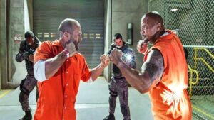 Fate of the Furious Dwayne Johnson and Jason Statham Deleted Scene