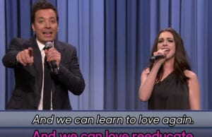 Jimmy Fallon and Anne Hathaway