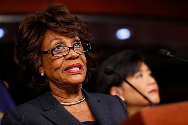 Maxine Waters Leads Impeachment Chant At Anti-Trump Rally