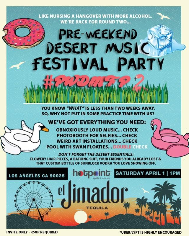 Funny Fake Coachella Party Invite