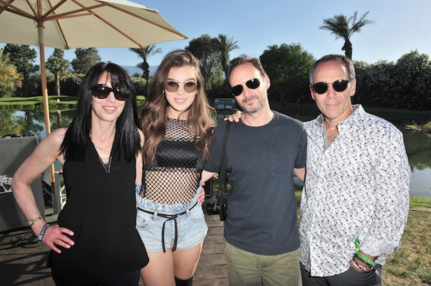 EVP of Republic Records Wendy Goldstein, singer/actress Hailee Steinfeld, Universal Pictures' president of film music and licensing, Mike Knobloch and Chairman and CEO of Republic Records Monte Lipman