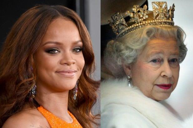 Rihanna Queen Elizabeth