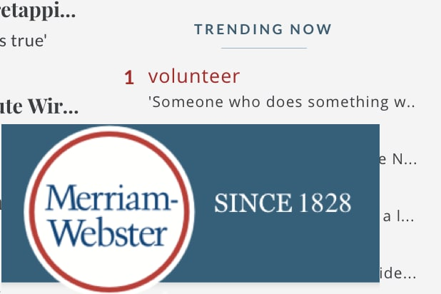 merriam webster dictionary volunteer