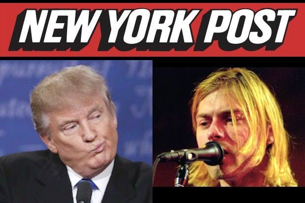 Donald Trump Curt Cobain New York Post