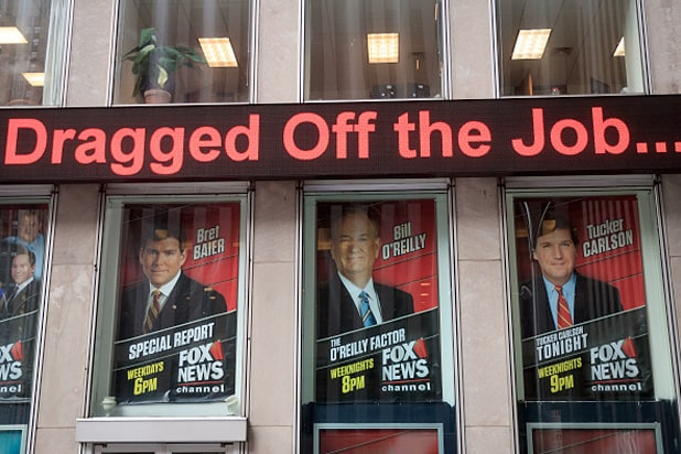 bill o'reilly dragged off the job