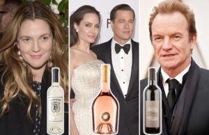 celebrity wine drew barrymore angelina jolie brad pitt sting