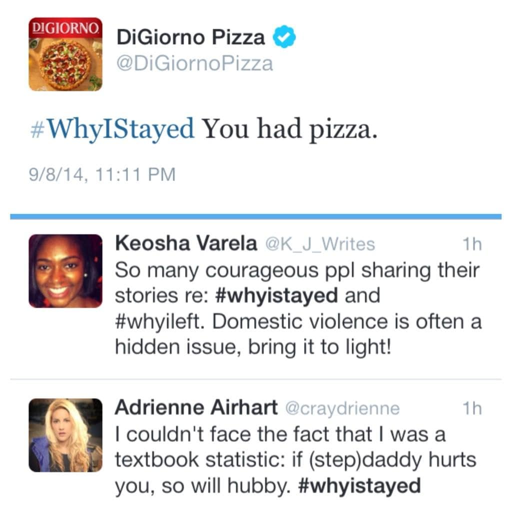digiorno pizza #whyistayed woke ad campaigns