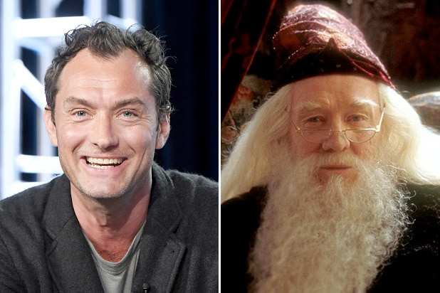 JUDE LAW Cast as YOUNG DUMBLEDORE in FANTASTIC BEASTS Sequel
