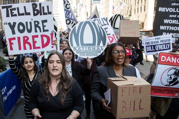 fire bill o'reilly rally timeline fox news sexual harassment recap
